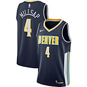 Nike Men's Denver Nuggets Paul Millsap #4 Navy Dri-FIT Swingman Jersey