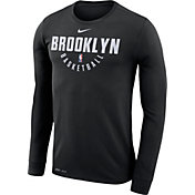 Nike Men's Brooklyn Nets Dri-FIT Black Practice Long Sleeve Shirt