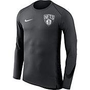 Nike Men's Brooklyn Nets Dri-FIT Hyper Elite Grey Long Sleeve Shirt