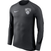 Nike Men's Brooklyn Nets Dri-FIT Hyper Elite Grey Long Sleeve Shirt