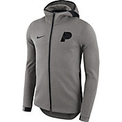 Nike Men's Indiana Pacers On-Court Grey Dri-FIT Showtime Full-Zip Hoodie