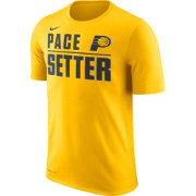 Nike Men's Indiana Pacers Dri-FIT Pace Setter Gold T-Shirt