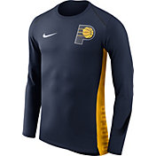 Nike Men's Indiana Pacers Dri-FIT Hyper Elite Navy Long Sleeve Shirt