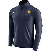 Nike Men's Indiana Pacers Dri-FIT Navy Element Half-Zip Pullover