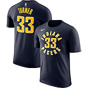 Nike Men's Indiana Pacers Myles Turner #33 Dri-FIT Navy T-Shirt