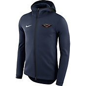 Nike Men's New Orleans Pelicans On-Court Navy Dri-FIT Showtime Full-Zip Hoodie