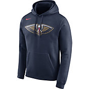 Nike Men's New Orleans Pelicans Club Navy Pullover Hoodie