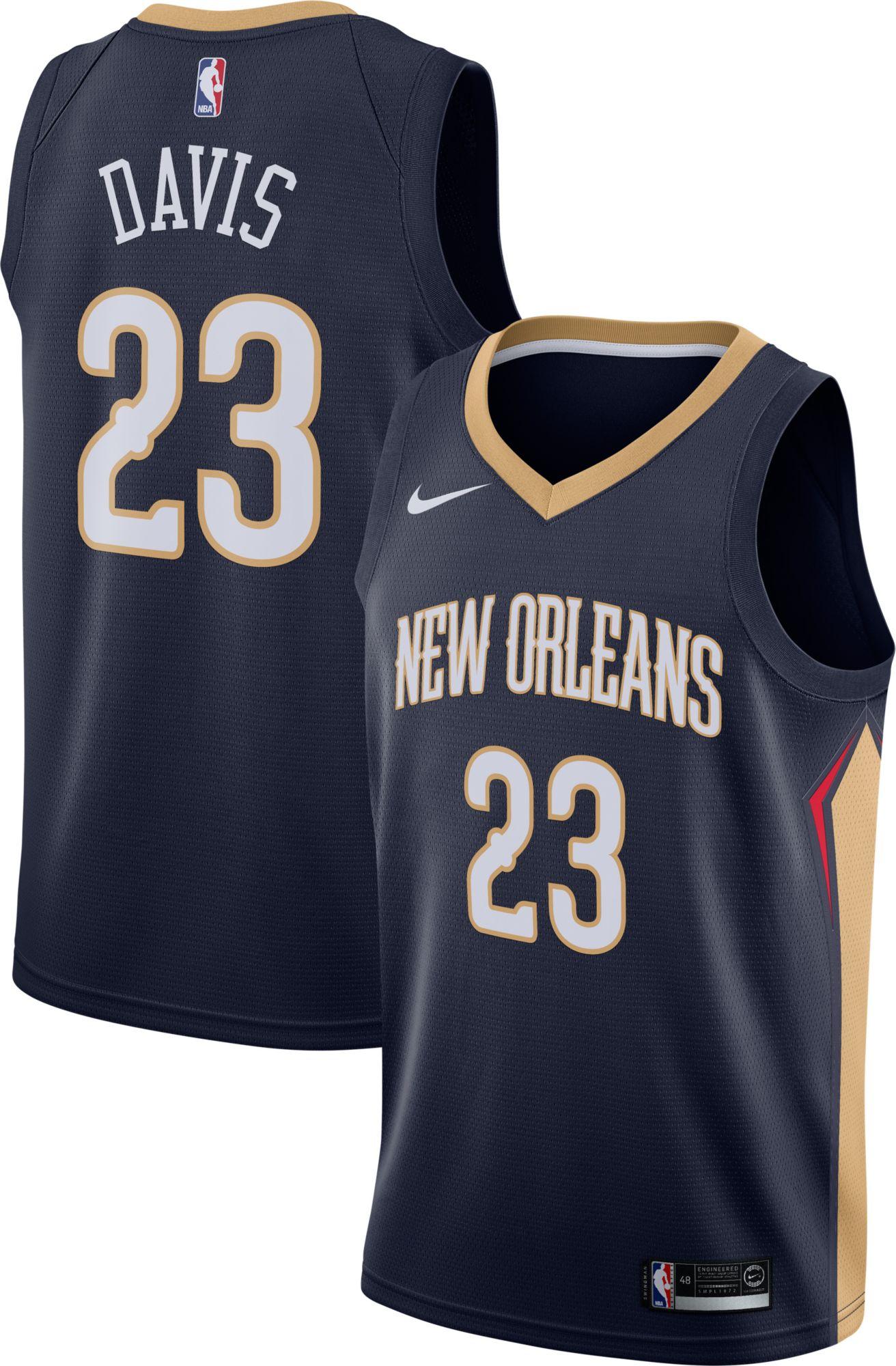 New Orleans Pelicans 23 Anthony Davis White Swingman Jersey