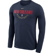 Nike Men's New Orleans Pelicans Dri-FIT Navy Practice Long Sleeve Shirt