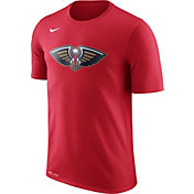 Nike Men's New Orleans Pelicans Dri-FIT Red Logo T-Shirt