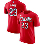 Nike Men's New Orleans Pelicans Anthony Davis #23 Dri-FIT Red T-Shirt