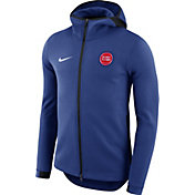 Nike Men's Detroit Pistons On-Court Royal Dri-FIT Showtime Full-Zip Hoodie
