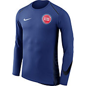 Nike Men's Detroit Pistons Dri-FIT Hyper Elite Royal Long Sleeve Shirt