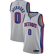 Nike Men's Detroit Pistons Andre Drummond #0 Grey Statement Dri-FIT Swingman Jersey