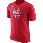 Nike Men's Detroit Pistons Dri-FIT Red Logo T-Shirt