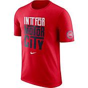 "Nike Men's Detroit Pistons Dri-FIT ""In It For Motor City"" Red T-Shirt"