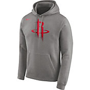 Nike Men's Houston Rockets Club Grey Pullover Hoodie