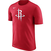 Nike Men's Houston Rockets Dri-FIT Red Logo T-Shirt