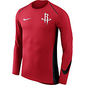 Nike Men's Houston Rockets Dri-FIT Hyper Elite Red Long Sleeve Shirt