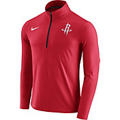 Nike Men's Houston Rockets Dri-FIT Red Element Half-Zip Pullover