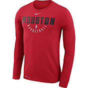 Nike Men's Houston Rockets Dri-FIT Red Practice Long Sleeve Shirt