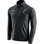 Nike Men's San Antonio Spurs Dri-FIT Black Element Half-Zip Pullover