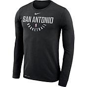 Nike Men's San Antonio Spurs Dri-FIT Black Practice Long Sleeve Shirt