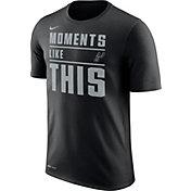 Nike Men's San Antonio Spurs Dri-FIT Moments Like This Black T-Shirt