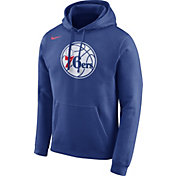 Nike Men's Philadelphia 76ers Club Royal Pullover Hoodie