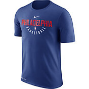 Nike Men's Philadelphia 76ers Dri-FIT Royal Practice T-Shirt