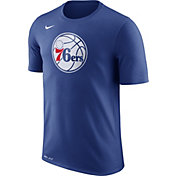 Nike Men's Philadelphia 76ers Dri-FIT Royal Logo T-Shirt