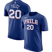 Nike Men's Philadelphia 76ers Markelle Fultz #20 Dri-FIT Royal T-Shirt