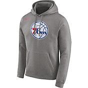 Nike Men's Philadelphia 76ers Club Grey Pullover Hoodie