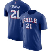 Nike Men's Philadelphia 76ers Joel Embiid #21 Dri-FIT Royal T-Shirt