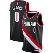 Nike Men's Portland Trail Blazers Damian Lillard #0 Black Dri-FIT Swingman Jersey