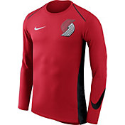 Nike Men's Portland Trail Blazers Dri-FIT Hyper Elite Red Long Sleeve Shirt