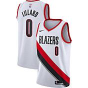 Nike Men's Portland Trail Blazers Damian Lillard #0 White Dri-FIT Swingman Jersey