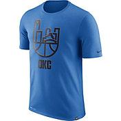 Nike Men's Oklahoma City Thunder Dri-FIT Blue Cityscape T-Shirt