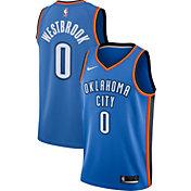 Nike Men's Oklahoma City Thunder Russell Westbrook #0 Blue Dri-FIT Swingman Jersey