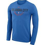 Nike Men's Oklahoma City Thunder Dri-FIT Blue Practice Long Sleeve Shirt