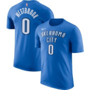 Nike Men's Oklahoma City Thunder Russell Westbrook #0 Dri-FIT Blue T-Shirt