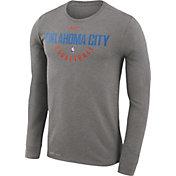 Nike Men's Oklahoma City Thunder Dri-FIT Grey Practice Long Sleeve Shirt