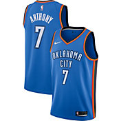 Nike Men's Oklahoma City Thunder Carmelo Anthony #7 Blue Dri-FIT Swingman Jersey