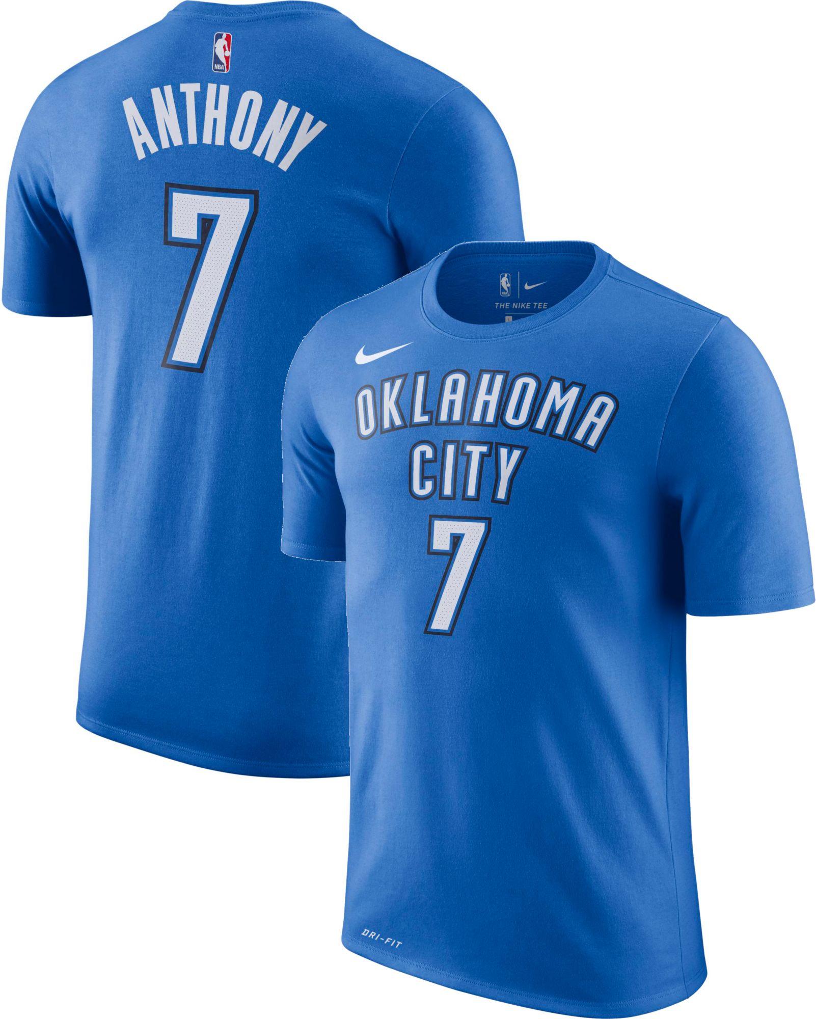 Nike Men's Oklahoma City Thunder Carmelo Anthony #7 Dri-FIT Blue T-Shirt |  DICK'S Sporting Goods