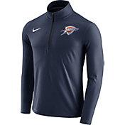 Nike Men's Oklahoma City Thunder Dri-FIT Navy Element Half-Zip Pullover