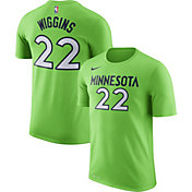Nike Men's Minnesota Timberwolves Andrew Wiggins #22 Dri-FIT Green T-Shirt