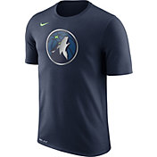 Nike Men's Minnesota Timberwolves Dri-FIT Navy Logo T-Shirt