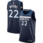 Nike Men's Minnesota Timberwolves Andrew Wiggins #22 Navy Dri-FIT Swingman Jersey