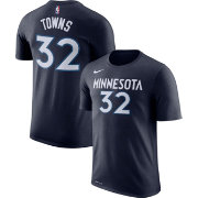 Nike Men's Minnesota Timberwolves Karl-Anthony Towns #32 Dri-FIT Navy T-Shirt