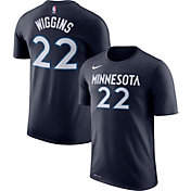Nike Men's Minnesota Timberwolves Andrew Wiggins #22 Dri-FIT Navy T-Shirt